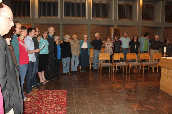Worshiping with other Central Plains Mennonite Conference leaders